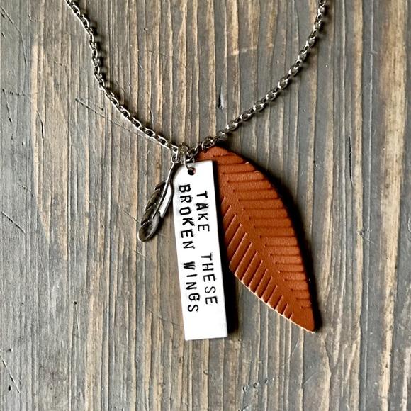 "handmade Jewelry - Handmade necklace ""Take these broken wings"""